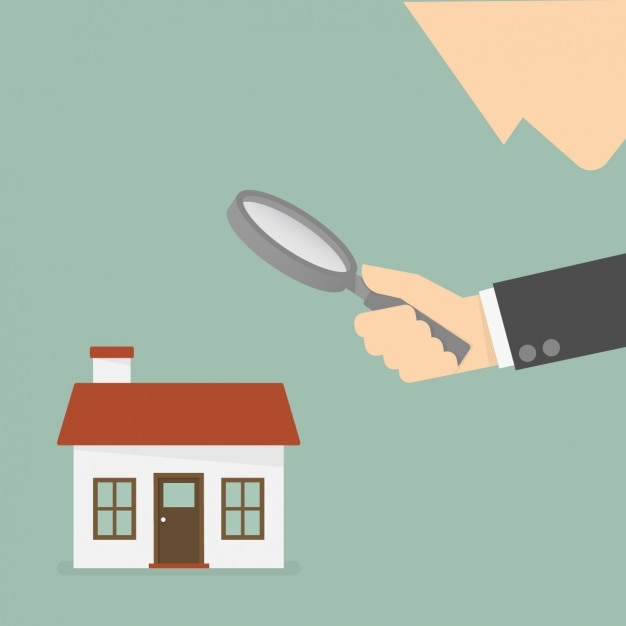 Searching house background Free Vector