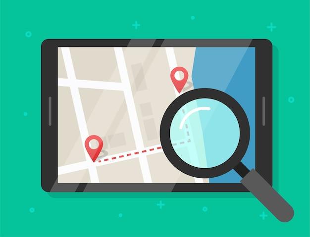 Поиск иллюстрации местоположения дорожной карты Premium векторы