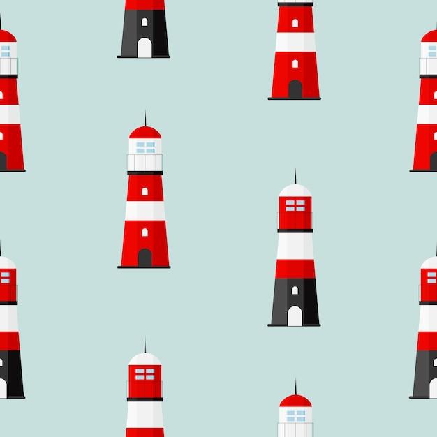 航海用サーチライト灯台タワー Premiumベクター