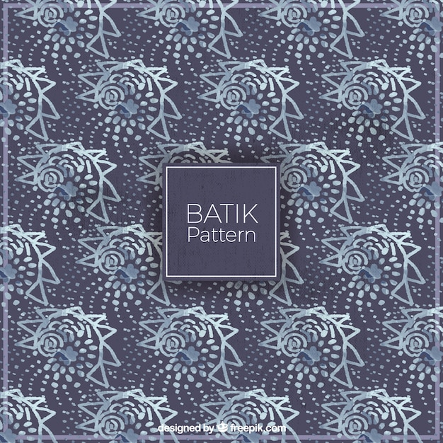 Seashell Batik Pattern Vector