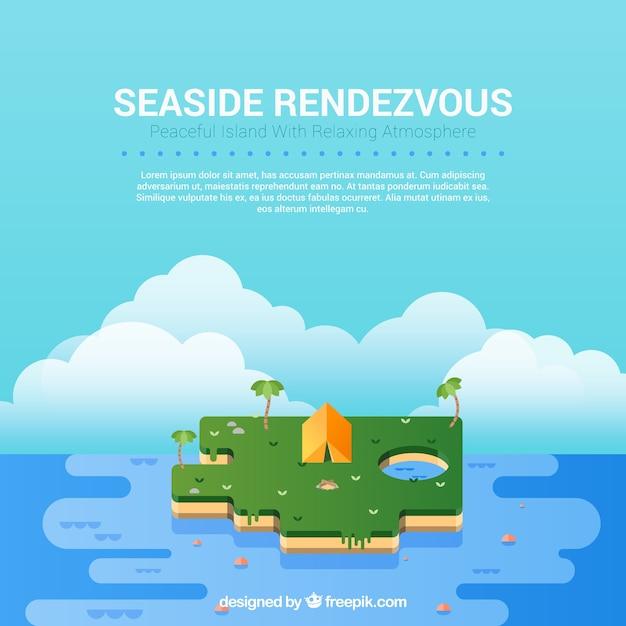Seaside rendezvous Free Vector