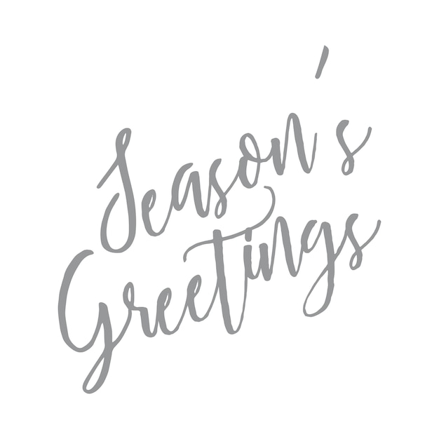 Seasons greetings hand writting letter quote vector premium seasons greetings hand writting letter quote premium vector m4hsunfo