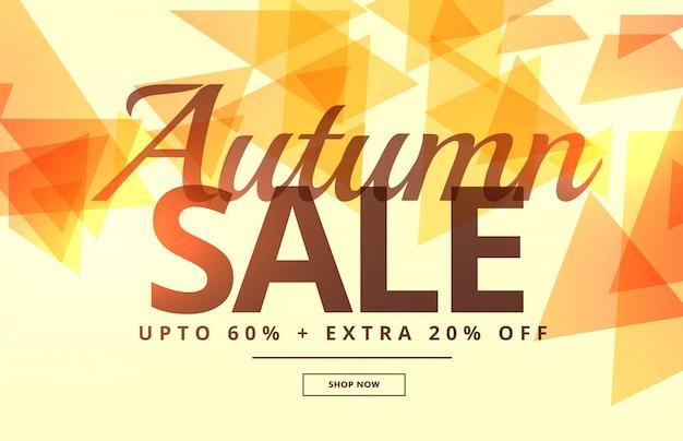 seasonal autumn sale banner poster template design Premium Vector