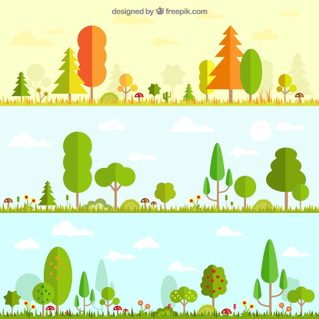 Seasonal nature Free Vector