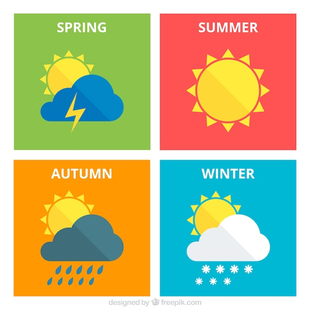 Seasonal weather Vector : Free Download