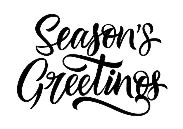 Seasons greetings lettering vector free download seasons greetings lettering free vector m4hsunfo