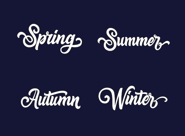 Seasons typography collection