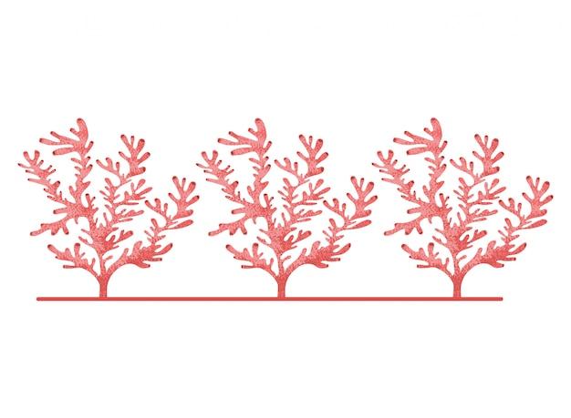Seaweed pattern Premium Vector