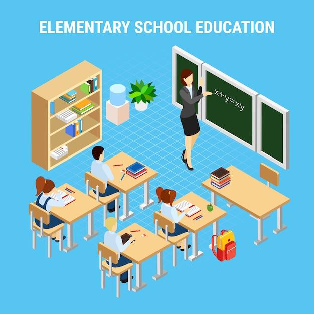 Secondary school education illustration Free Vector