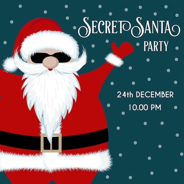 Secret santa party invitation Premium Vector