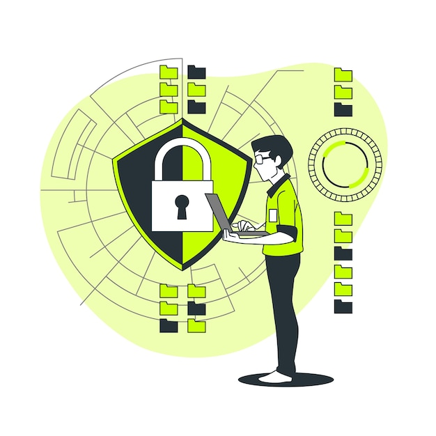 Secure data concept illustration Free Vector