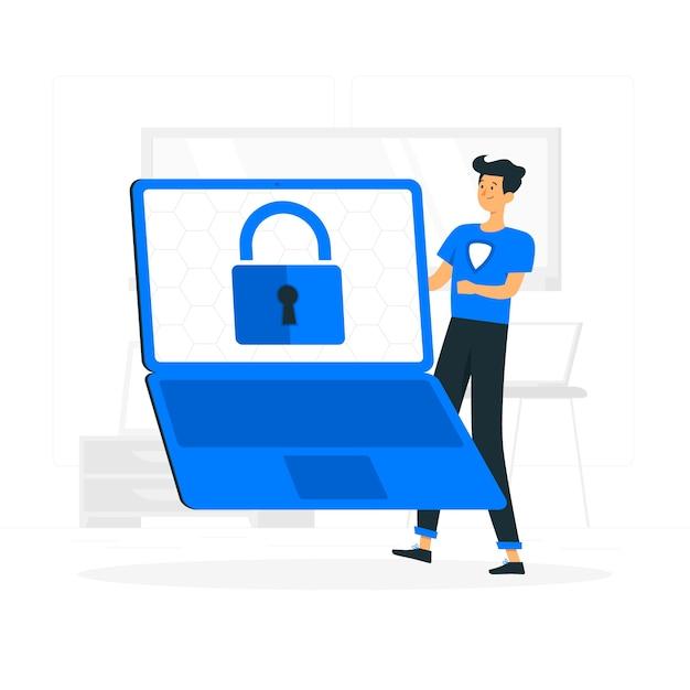Illustrazione di concetto di dati sicuri Vettore gratuito