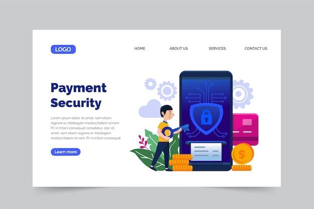 Pagina di destinazione del pagamento sicuro Vettore gratuito