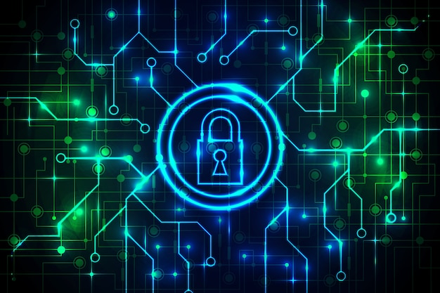 Secure technology background abstract design Free Vector