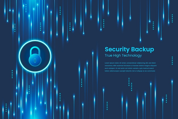 Secure technology background abstract style Free Vector