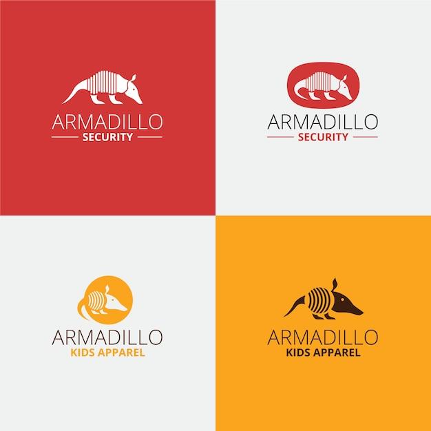 Security armadillo logo design Premium Vector