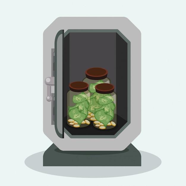 Security box design Premium Vector