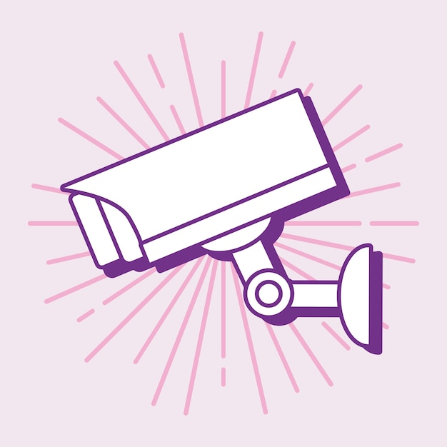 Security camera design Premium Vector