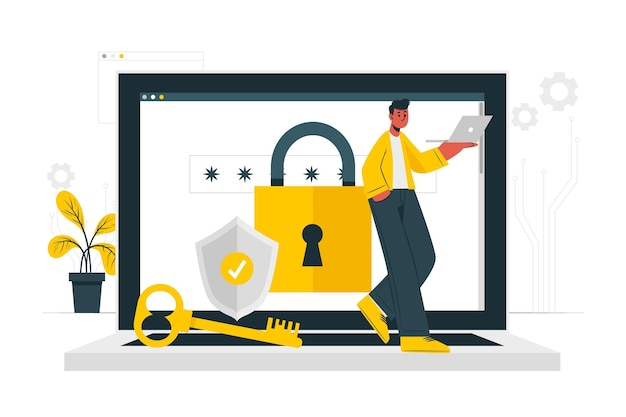 Securityconcept illustration Free Vector