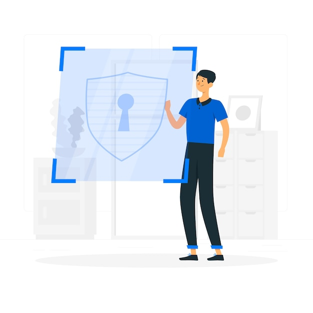 Security concept illustration Free Vector