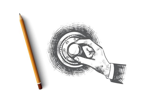 Security concept illustration Premium Vector