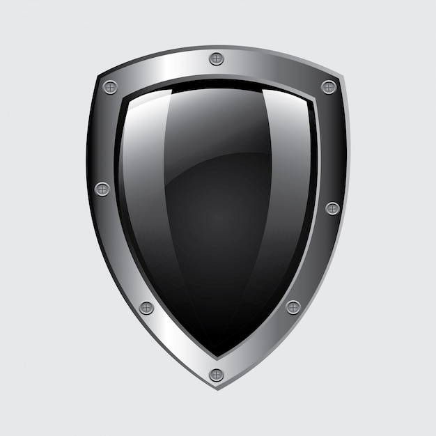 Security emblem Free Vector