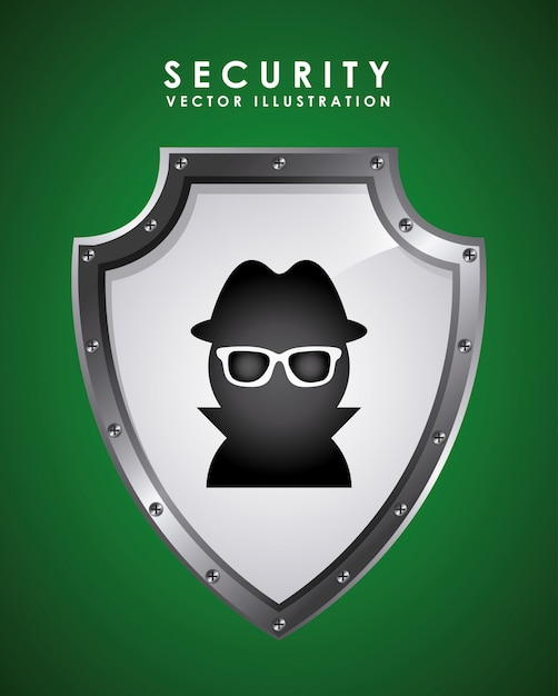 Security graphic design  vector illustration Free Vector