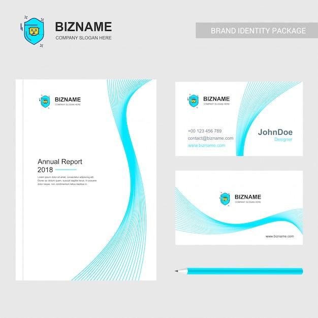 Security logo annual report template Vector   Premium Download