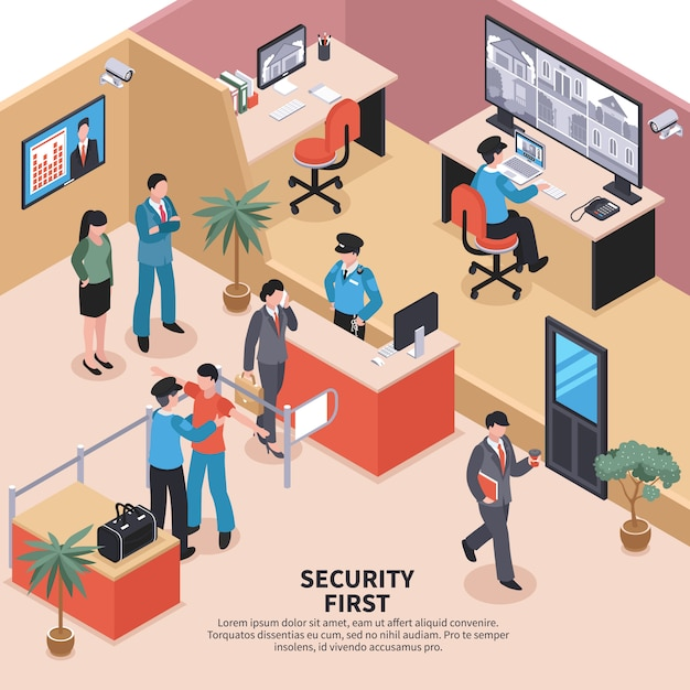 Sicurezza in ufficio Vettore gratuito