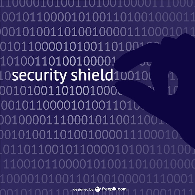 Security shield concept vector Free Vector