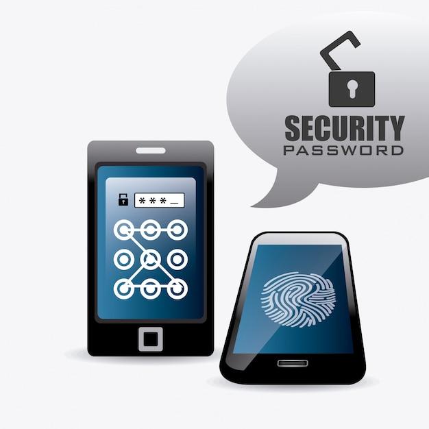 Security system design. Premium Vector