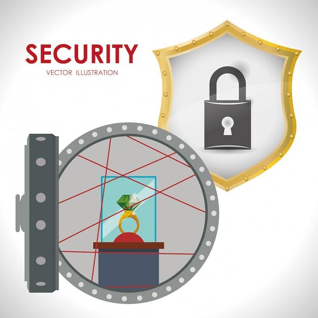 Security system design Premium Vector