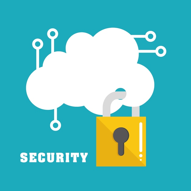 Security system and technology Premium Vector