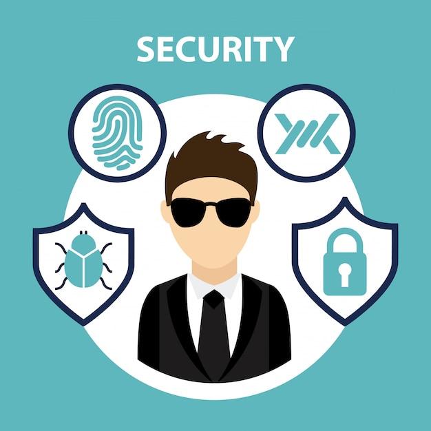 Security system Premium Vector