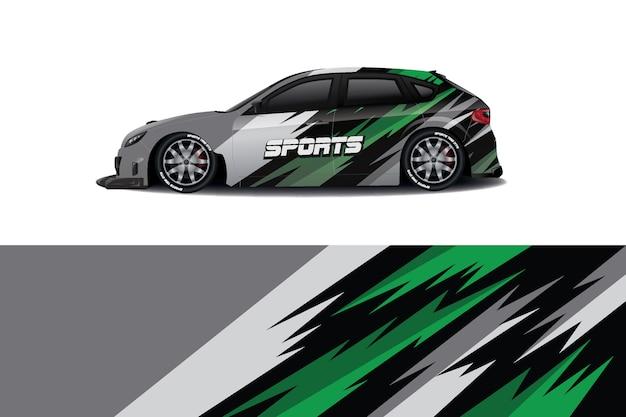 Sedan car decal wrap design Premium Vector