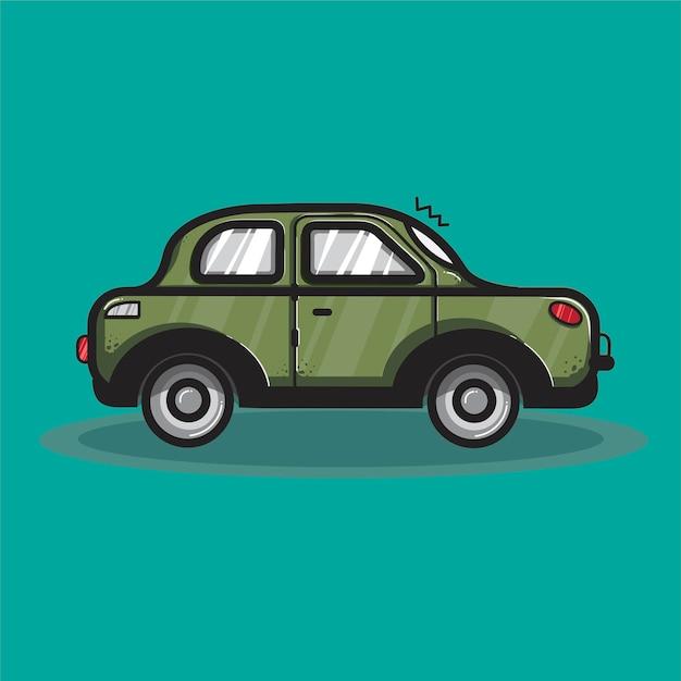 Sedan car transportation graphic\ illustration