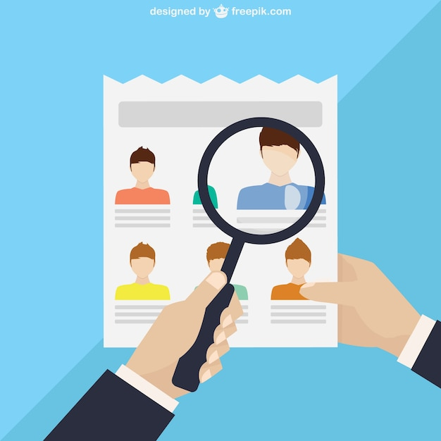 Selecting personnel cartoon Free Vector