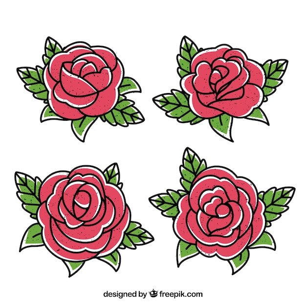 Selection of decorative roses