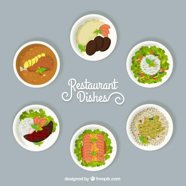 انتخاب غذاهای رستوران های مختلف
