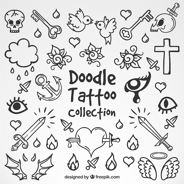 Doodle art vectors photos and psd files free download selection of doodle tattoos pronofoot35fo Choice Image