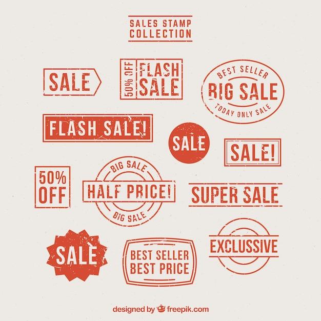 환상적인 판매 스탬프 선택 무료 벡터