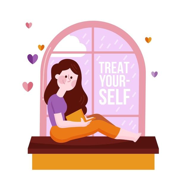 Self care concept Premium Vector