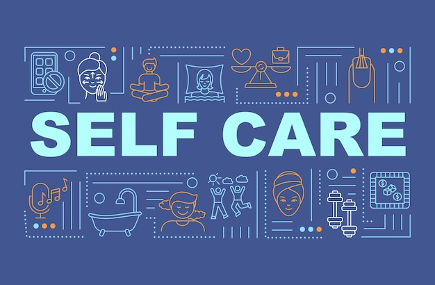 Self care word concepts banner Premium Vector