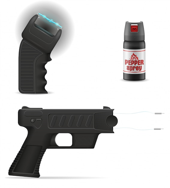 Self defense weapon to protect against bandit attacks Premium Vector