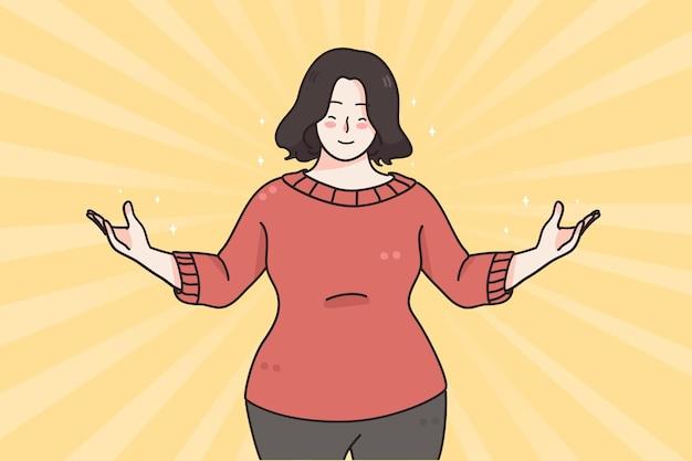 Self esteem confidence positive emotions concept Premium Vector