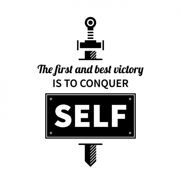 Free Vector Self Motivation Quote Design
