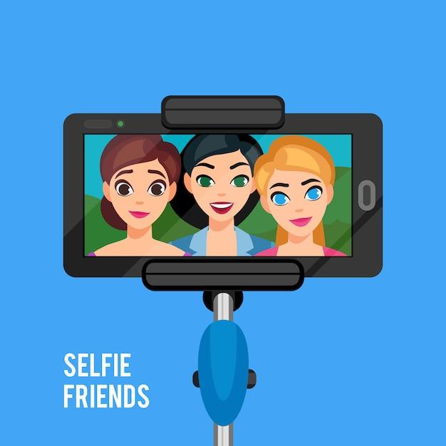 Selfie photo template Free Vector
