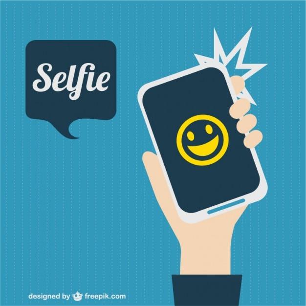 Selfie picture smartphone Free Vector