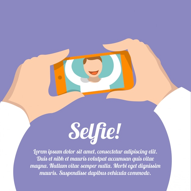 Download Free Selfie Self Portrait With Text Template Vector Freepik