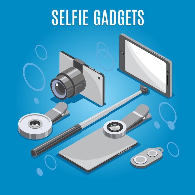 等尺性selfieガジェット 無料ベクター
